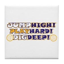 VolleyBall Play Hard Tile Coaster
