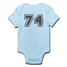 Number 74 Infant Bodysuit