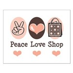 Peace Love Shop Shopping Small Poster