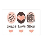 Peace Love Shop Shopping Postcards (Package of 8)