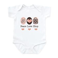 Peace Love Shop Shopping Infant Bodysuit