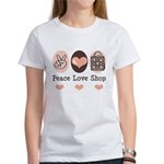 Peace Love Shop Shopping Women's T-Shirt