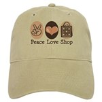 Peace Love Shop Shopping Cap