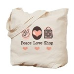 Peace Love Shop Shopping Tote Bag