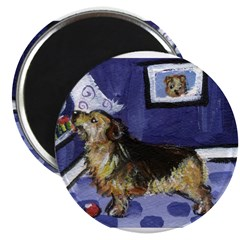 "NORFOLK TERRIER ART! 2.25"" Magnet (10 pack)"