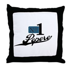 Number One Pepere Throw Pillow