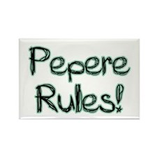 Pepere Rules! Rectangle Magnet