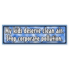 Kids and Pollution Bumper Sticker