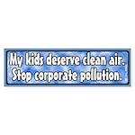 Kids and Pollution Bumper Sticker