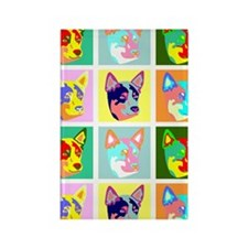 Australian Cattle Dog Pop Art Rectangle Magnet