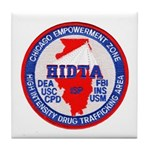 Chicago HIDTA Tile Coaster