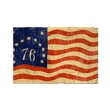 Retro 1776 American Flag Rectangle Magnet