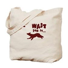 Border Collie Disc Tote Bag