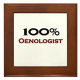 100 Percent Oenologist Framed Tile