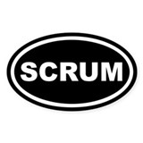 Scrum Euro Oval Decal