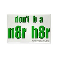 n8r h8r Rectangle Magnet