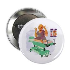 "Childhood Cancer/BaldISBeautiful 2.25"" Button (10"