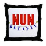 Retired Nun Throw Pillow