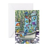 Unique Bird baths Greeting Cards (Pk of 20)