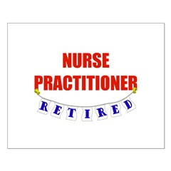 Retired Nurse Practitioner Small Poster