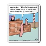 Grill Hotdog Courtroom Mousepad