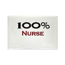 100 Percent Nurse Rectangle Magnet (10 pack)