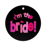 Shades of Pink Bride Ornament (Round)