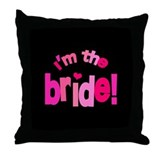 Shades of Pink Bride Throw Pillow