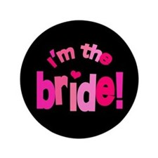 "Shades of Pink Bride 3.5"" Button"