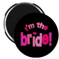 Shades of Pink Bride Magnet