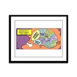 Parent's Brain Framed Panel Print