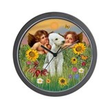 Angels & Bedlington Wall Clock