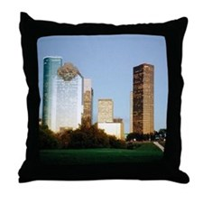 Houston Skyline Throw Pillow