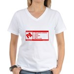Rated Polish Women's V-Neck T-Shirt