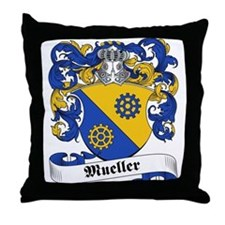 Mueller Family Crest Throw Pillow