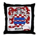 Munch Family Crest Throw Pillow