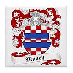 Munch Family Crest Tile Coaster