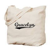 Vintage Gracelyn (Black) Tote Bag