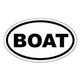 Boat Euro Oval Decal