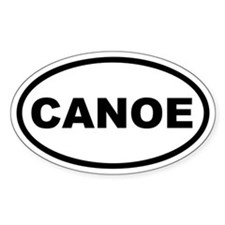 Canoe Euro Oval Decal