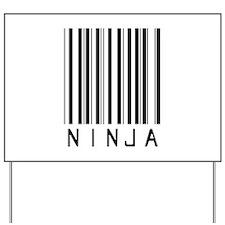 Ninja Barcode Yard Sign