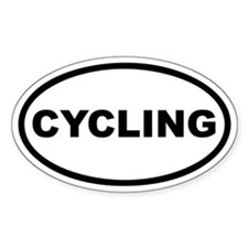 Cycling Euro Oval Decal