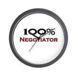 100 Percent Negotiator Wall Clock