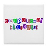 Occupational Therapist Colors Tile Coaster