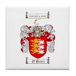 O'Brien Family Crest Tile Coaster