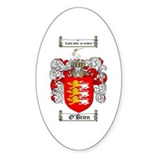 O'Brien Family Crest Oval Decal