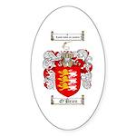 O'Brien Family Crest Oval Sticker