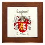O'Brien Family Crest Framed Tile
