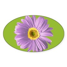 Pop Art Purple Daisy Oval Decal