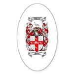 Nolan Family Crest Oval Sticker